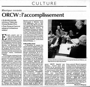 ORCW : L'accomplissement