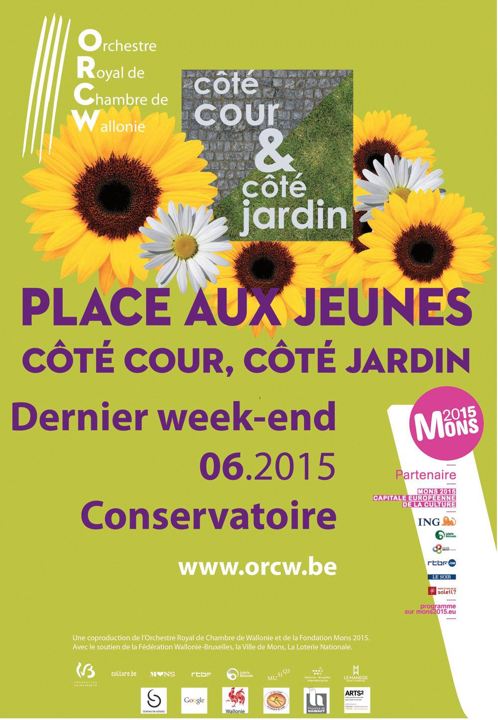 Mons 2015 place aux jeunes festival c t cour c t for Mons 2015 jardin suspendu
