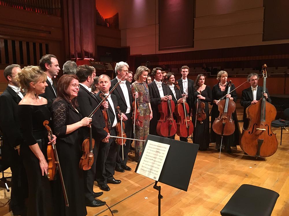 Sa Majesté la Reine Mathilde et l'Orchestre Royal de Chamùbre de wallonie, 20 mai 2017 © Laurent Fack